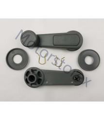 Pair Window Crank Handle Interior Gray for  Mitsubishi L200 Sportero Triton Pickup MB524254