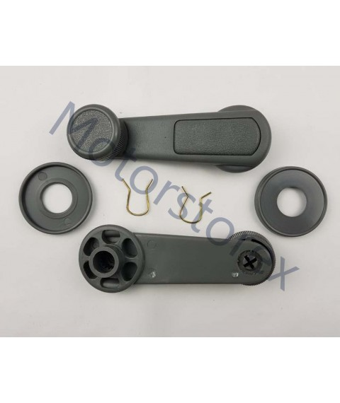 Pair Window Crank Handle Interior Gray for  Mitsubishi L200 Sportero Triton Pickup MB524254